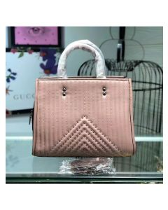 Coach Rogue Bag with Quilting and Rivets in Nappa Leather Pink
