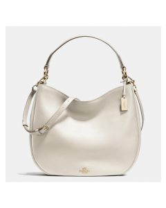 Coach Nomad Hobo In Glovetanned Leather White