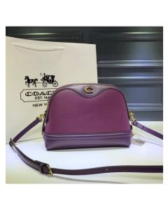 Coach Ivie Crossbody In Pebble Leather Purple