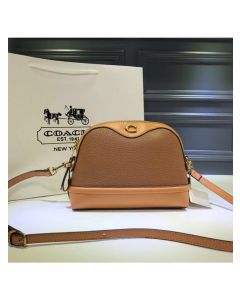 Coach Ivie Crossbody In Pebble Leather Brown