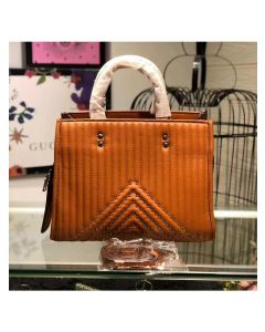 Coach Rogue Bag with Quilting and Rivets in Nappa Leather Brown