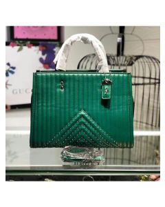 Coach Rogue Bag with Quilting and Rivets in Nappa Leather Green