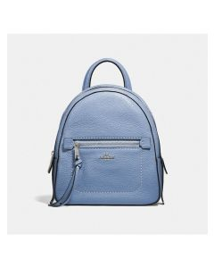 Coach Andi Backpack in Pebble Leather Sky Blue