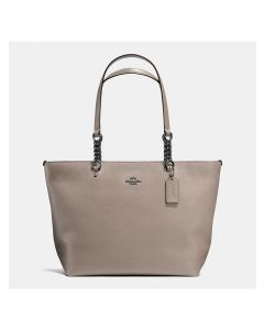 Coach Sophia Tote In Pebble Leather Grey