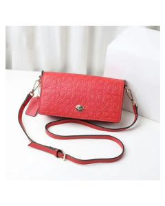 Coach Dinky Bag in Signature Leather Red